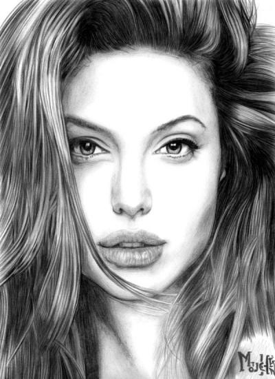 Angelina Jolie by Mouchene